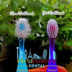 Old and new toothbrush