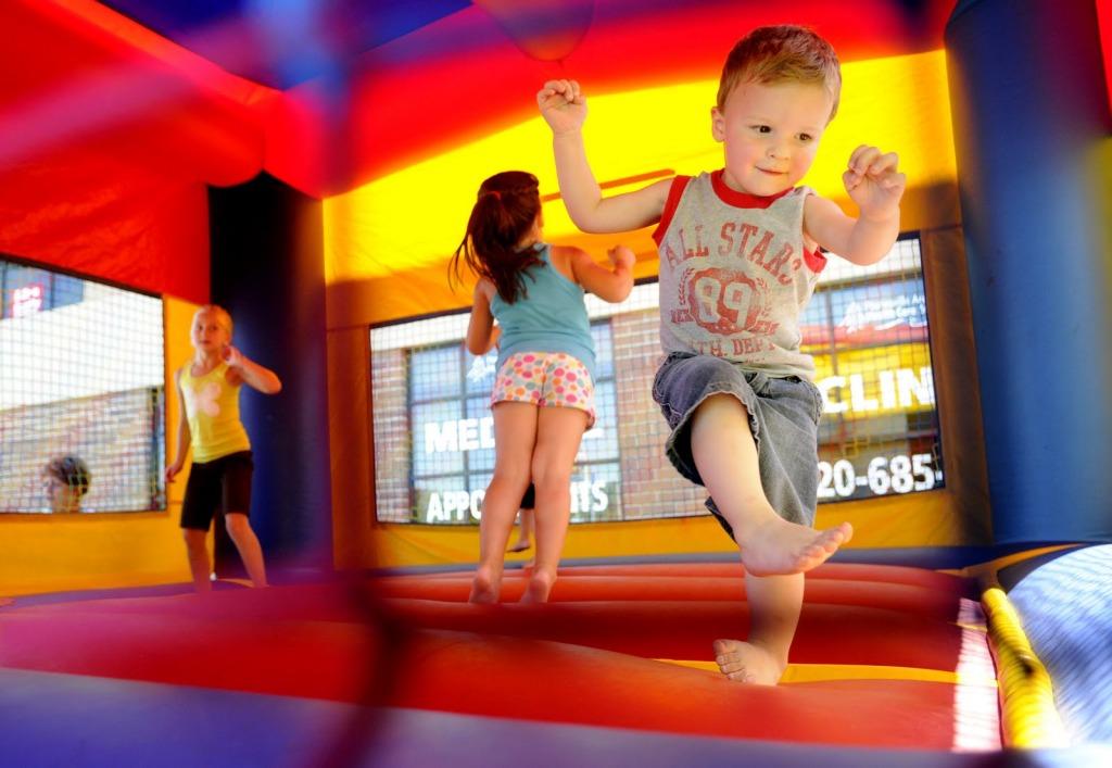 Kid in bouncy