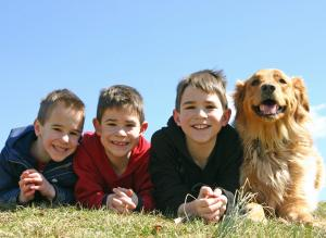 boys-with-dog